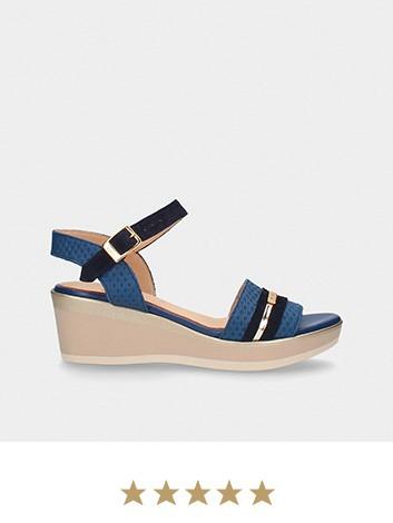 Sandália de cunha média MLV Shoes