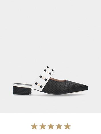Mule preto MLV Shoes