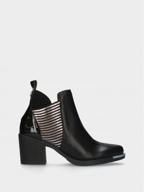 Medium Heel Ankle Boots