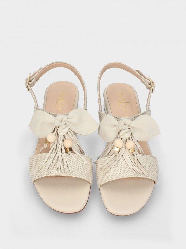 Sandales à Talon Bas